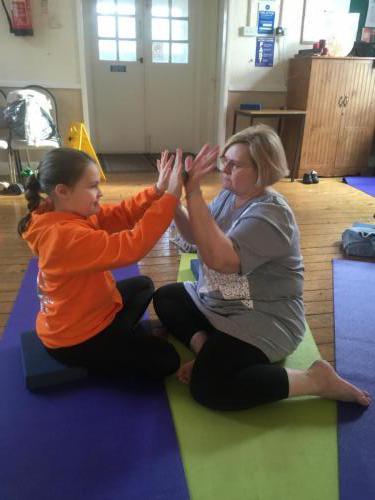 partner hand massage